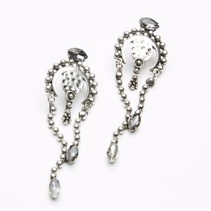{free people} silver colored dangly earrings